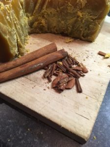 Scenting DIY beeswax candles